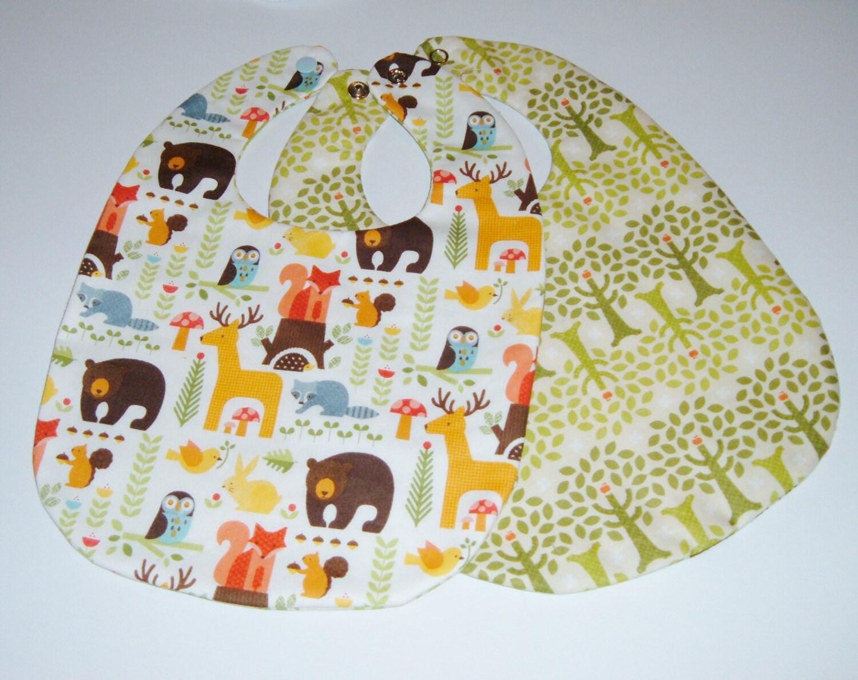 Baby Gift Organic : Unisex baby gift organic cotton bib and burp by pasqueflower