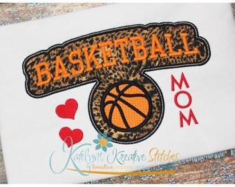 Basketball Mom - Block Arc Applique