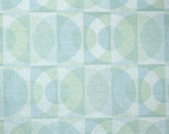 Vintage Wallpaper by the Yard 70s Retro Wallpaper - 1970s Blue and Green Mod Circles Geometric