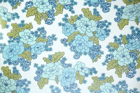 Wallpaper - ...1970s Wallpaper Green Leaves