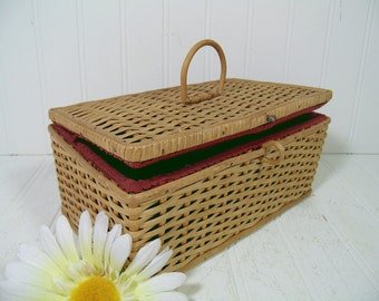Vintage Large Oval Wicker Laundry Basket By Divineorders