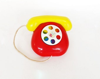 Vintage Toy, Toy Telephone, First Two Years, Baby Toy, Play Telephone, Collectible Toy