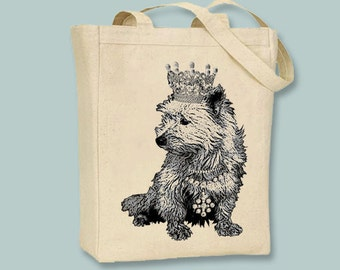 Royal West Highland Terrier Natural or Black Canvas Tote -- Selection of sizes available