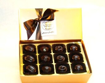 Creek House Organic Vegan Chocolate Truffles, Debut, 4 Sizes, Free Shipping