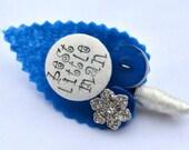 Blue Sparkle Childrens Buttonholes Best Little Man / Page Boy Buttonhole Boutonniere Wedding