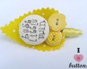 Yellow Polka Dot Childrens Buttonholes Best Little Man / Page Boy Buttonhole Boutonniere Wedding