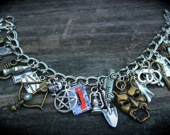 Loaded Charm Bracelet - Demon - Ghost - Vampire - Werewolf - Angel - Mythology - Paranormal Legends - Supernatural Creatures - Fallen Angels