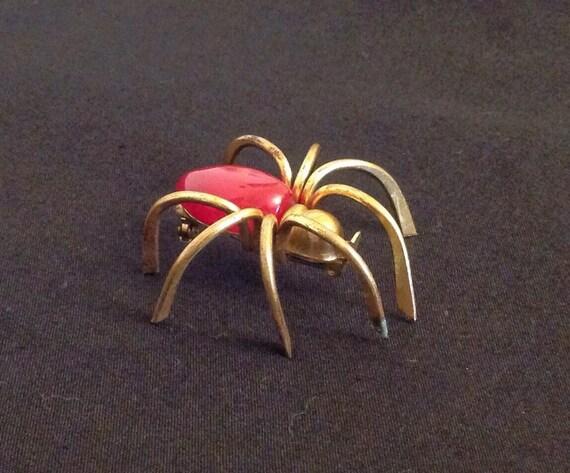 Vintage Bakelite Spider Brooch Bakelite Pin