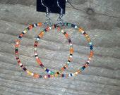 Native American Beaded Small hoop Earrings