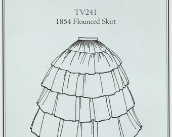TV241 - Truly Victorian #241, 1854 Flounced Skirt Sewing Pattern