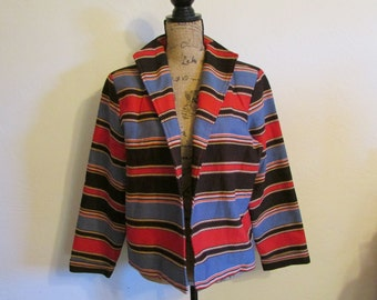 Colorful Southwester Western Painted Pony Jacket Coat  **Free USA Shipping**