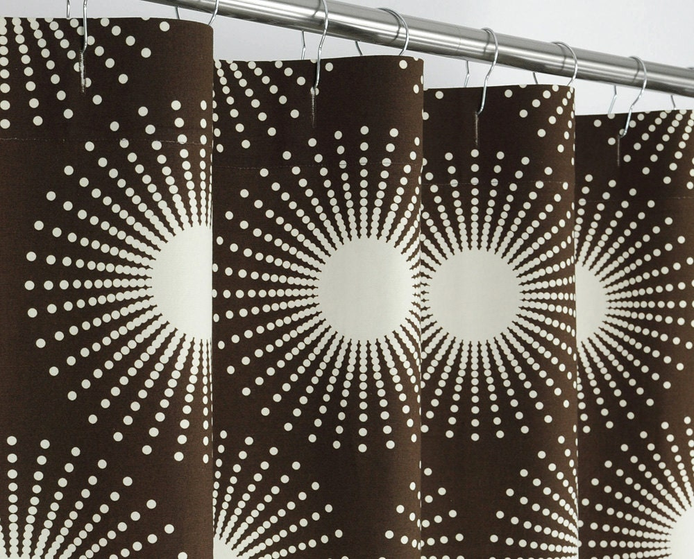 84 long brown starburst shower curtain 72 x 84 long by