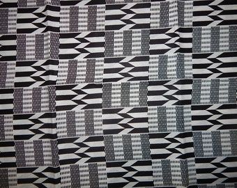 Kente3 African Print Fabric (sold by the yard)