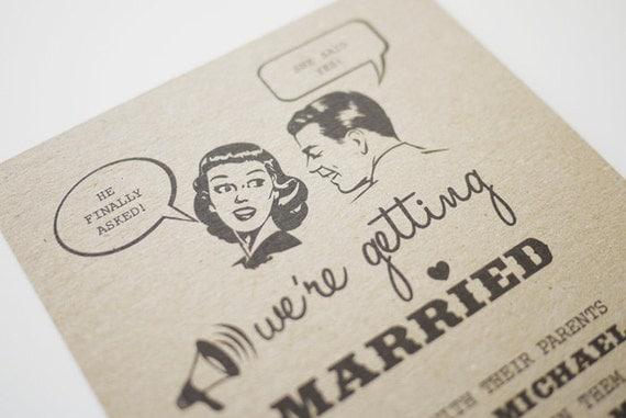 Fun 1950s Retro Wedding Invitation Printable