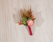 One of Kind READY TO SHIP Hops Boutonniere Mexicali Beer
