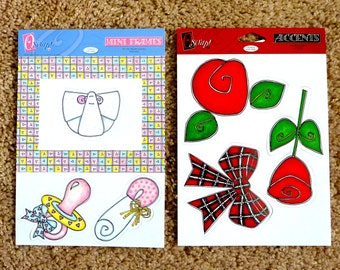 """Baby & Buds Frame and Die Cuts by """"O Scrap"""" - 2 Sheets of each for Scrapbooking/Card Making"""