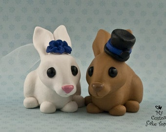 Bunny Love Wedding Cake Topper