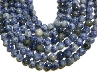 Blue Spot Jasper - 8mm Round - Full Strand - 48 beads