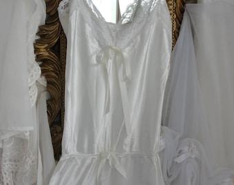 Lingerie shabby mori girl ivory lace teddy vintage