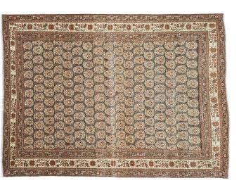 4x5.5 Antique Tabriz Rug