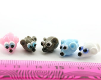 Mouse Lampwork  Bead /  figurine/ sculpture/ miniature glass