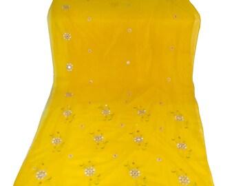 Used  Sari ,Dress  Making fabric sarong drape Embroidered Sari