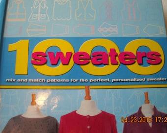 1000 Knitting Patterns, Hardcover Book of Knitting Patterns, Mix and Match sweater patterns, Interchangeable patterns, Pattern combinations
