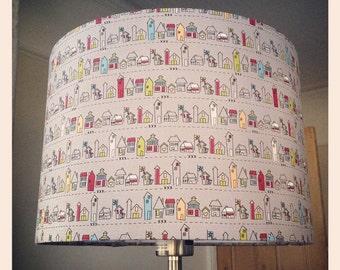 "Medium Lampshade - Fabric Town - 30cm diameter by 21cm high (11.8"" x 8.2"")"