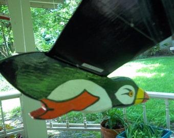 "Flying bird wood yard decor Folk art, large 27"" wing span, whirlygig style, retro look..Reduced..WAS 21.49"