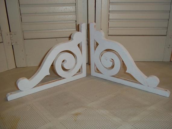 2 wood decorative corbel corner bracket pair shelf mounts. Black Bedroom Furniture Sets. Home Design Ideas