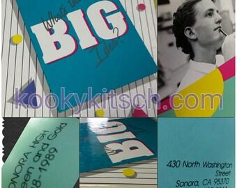Sonora High School 1988-89 School Yearbook Sonora California What's The Big Idea Hard Cover Annual Student Souvenir Photos