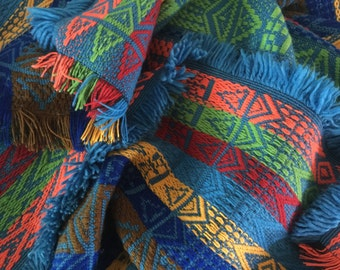 Vintage Southwestern Bold Indian Striped Blanket