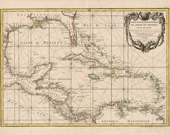 1762 Chart of The Caribbean