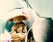 VINTAGE // Art Doll // Straw Doll // Chinese Art // Toy // Miniature // Shabby Chic