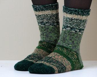Size US W 9.5, EU 41 Hand knit wool socks