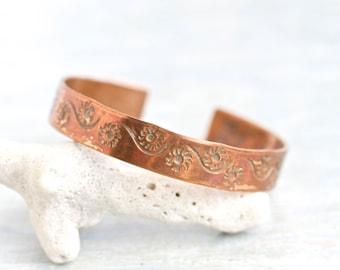 Copper Cuff Bracelet - Vintage Bangle