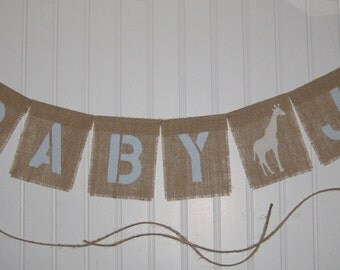 CUSTOM ANIMAL and Block NAME Burlap Party Banner(s) ~ choose Animal Image Symbols. Great for Birthday Parties, Safari Nursery Bedroom Decor