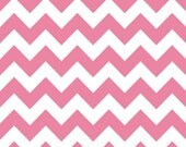 18 X 20 LAMINATED fabric - Hot Pink Chevron (aka oilcloth, vinyl, coated fabric)