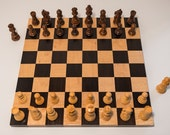 Handcrafted Hardwood Chess Board, Chess Set, Small, Tiger Maple & Cambia, Boxwood and Sheeshamwood,  FREE SHIPPING within continental U.S.