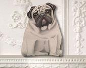 Small Pug Ornament - Stuffed Dog