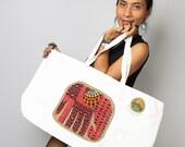 Cotton tote bag / Elephant tote bag / Shopping bag / Beach Bag / Eco Bag :