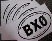 """BX0 Bundle - """"Be anxious for nothing"""" car window decal, bumper sticker - Buy 4 get 1 Free"""