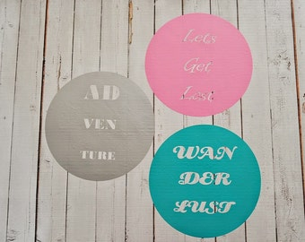 Vinyl Wall Decal Travel Quotes Set of 3