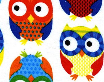 What A Hoot - White Owls from Timeless Treasures