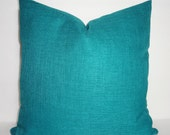 OUTDOOR Pillow Cover Solid Teal Patio Deck Pillow Cover Teal Outdoor Pillow Cover 18x18