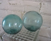 Vintage Glass Fish Floats - Blue Glass