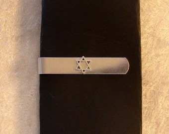 Star of David Tie Bar
