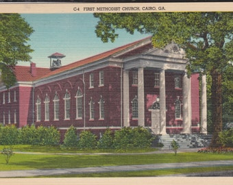 Cairo, Georgia, First Methodist Church - Vintage Postcard - Postcard -  Unused (ZZZ)