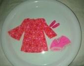 Vintage Barbie Mattel , Talking P.J. Doll , Original Outfit 1969 , Pink Mini Dress