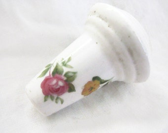 English Porcelain Pull For Chandelier or Lamp Or Finial
